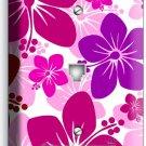 PINK HAWAIIAN HIBISCUS FLOWERS PHONE TELEPHONE WALL PLATE COVER GIRLS ROOM DECOR