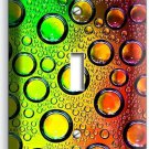 COLORFUL GLASS BUBLES WATER DROPLETS SINGLE LIGHT SWITCH WALL PLATE COVER DECOR