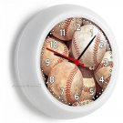 OLD PLAYED RUSTIC WORN OUT BASEBALL BALLS WALL CLOCK MAN CAVE LIVING ROOM DECOR