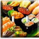SUSHI ROLLS SASHIMI DOUBLE LIGHT SWITCH WALL PLATE JAPANESE RESTAURANT BAR DECOR