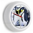 KING PENGUINS PARENTS AND VERY CUTE BABY WALL CLOCK BEDROOM ROOM DECOR GIFT IDEA