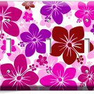 PINK HAWAIIAN HIBISCUS FLOWERS TRIPLE LIGHT SWITCH WALL PLATE COVER ROOM DECOR