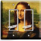 MONA LISA LEONARDO DA VINCI PAINTING DOUBLE GFI LIGHTSWITCH WALL PLATE COVER ART