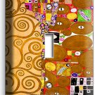 GUSTAV KLIMT TREE OF LIFE GOLD LEAF PAINTING SINGLE LIGHTSWITCH WALL PLATE COVER