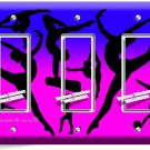 LITTLE GYMNAST TRIPLE GFCI LIGHT SWITCH WALL PLATE GIRLS ROOM DANCE STUDIO DECOR