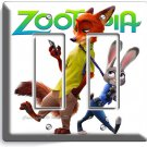 ZOOTOPIA FOX NICK BUNNY RABBIT JUDY GFCI DOUBLE LIGHT SWITCH WALL PLATE COVER