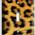 LEOPARD ANIMAL SKIN PRINT SINGLE LIGHT SWITCH WALL PLATE NEW ROOM ART HOME DECOR