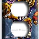 CHICAGO BEARS RUNNING ANGRY FOOTBALL POWER OUTLET RECEPTACLE WALL PLATE MAN CAVE