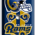 ST LOUIS RAMS FOOTBALL TEAM LIGHT DIMMER CABLE COVER WALL PLATE BOYS ROOM GARAGE