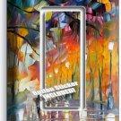 RAINY DAY ABSTRACT SINGLE GFCI LIGHT SWITCH WALL PLATE COVER NY ART STUDIO DECOR