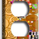 GUSTAV KLIMT TREE OF LIFE GOLD LEAF PAINTING DUPLEX OUTLET WALL PLATE ART COVER