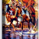 NATIVE AMERICAN INDIANS ON HORSES LIGHT DIMMER CABLE SWITCH WALL PLATE COVER ART