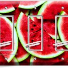 RED WATERMELON TRIPLE GFI LIGHT SWITCH WALL PLATE DINING ROOM KITCHEN HOME DECOR