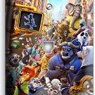 ZOOTOPIA FOX NICK BUNNY JUDY SLOTH FLASH PHONE JACK TELEPHONE WALL PLATE COVER