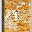 RUSTIC ROUGH PLYWOOD WOOD DESIGN SINGLE LIGHT SWITCH WALL PLATE KITCHEN ROOM ART