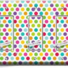 COLORFUL PASTEL POLKA DOTS TRIPLE GFI LIGHT SWITCH WALL PLATE COVER BABY NURSERY