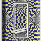 MOVING OPTICAL ILLUSION SINGLE GFI LIGHT SWITCH WALL PLATE COVER ROOM HOME DECOR