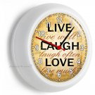 LIVE LAUGH LOVE WALL CLOCK KITCHEN DINING LIVING ROOM DECOR GIFT FOR WIFE FRIEND