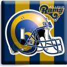 ST LOUIS RAMS FOOTBALL TEAM DOUBLE LIGHT SWITCH WALL PLATE BOYS ROOM MAN CAVE