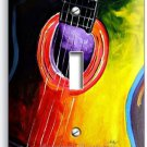 ACOUSTIC GUITAR ABSTRACT MODERN ART MUSIC SINGLE LIGHT SWITCH WALL PLATE COVER