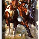WILD AMERICAN HORSES RUNNING IN RIVER LIGHT DIMMER VIDEO CABLE WALL PLATE COVER