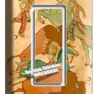 NATIVE AMERICAN INDIAN TIPI BUFFALO SINGLE GFI LIGHT SWITCH WALL PLATE ART COVER