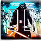 STAR WARS KYLO REN FIRST ORDER STORMTROOPERS DOUBLE GFCI LIGHT SWITCH WALL PLATE