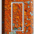 RUSTIC CRACKED RUST RUSTED SINGLE GFCI LIGHT SWITCH WALL PLATE COVER MAN CAVE
