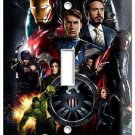 THE AVENGERS IRONMAN THOR SUPER POWER HULK SINGLE LIGHT SWITCH WALL PLATE COVER