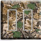 OAK TREE MOSSY CAMO CAMOUFLAGE DOUBLE DECORA LIGHT SWITCH WALL PLATE HUNT CABIN