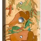 NATIVE AMERICAN INDIAN TIPI BUFFALO LIGHT DIMMER CABLE WALLPLATE ART COVER DECOR