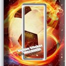 SOCCER BALL FLAME FOOTBALL SINGLE GFCI LIGHT SWITCH WALL PLATE COVER BOYS ROOM
