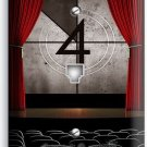 TV ROOM HOME MOVIE THEATER BIG SCREEN PHONE JACK TELEPHONE WALL PLATE COVER ART