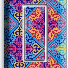 DAMASK ARABIC COLORFUL PATTERN SINGLE GFCI LIGHT SWITCH WALL PLATE COVER DECOR
