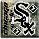CHICAGO WHITE SOX BASEBALL TEAM DOUBLE LIGHT SWITCH WALL PLATE COVER ROOM DECOR