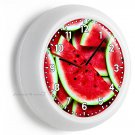 RED WATERMELON GREEN RIND WALL CLOCK BEDROOM ROOM HOME COUNTRY KITCHEN ART DECOR