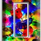 COLORFUL MURANO GLASS SINGLE GFI LIGHT SWITCH WALL PLATE COVER LIVING ROOM DECOR