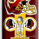 WASHINGTON REDSKINS FOOTBALL LIGHT DIMMER CABLE WALL PLATE COVER BOYS ROOM DECOR