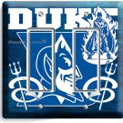 DUKE UNIVERSITY BLUE DEVILS BASKETBALL TEAM DOUBLE GFCI LIGHT SWITCH WALL PLATE