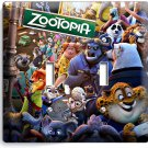 ZOOTOPIA FOX NICK JUDY BUNNY SLOTH FLASH DOUBLE LIGHT SWITCH WALL PLATE COVER