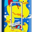 RUBBER DUCKY SWIMMING UMBRELLA SINGLE GFI LIGHT SWITCH WALL PLATE COVER BATHROOM