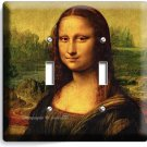 MONA LISA LEONARDO DA VINCI PAINTING DOUBLE LIGHT SWITCH WALL PLATE COVER DECOR
