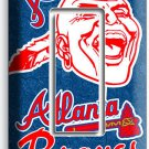 ATLANTA BRAVES MLB BASEBALL SINGLE GFCI LIGHT SWITCH PLATE GAME BOYS ROOM GARAGE
