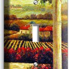 TUSCAN VINEYARD PAINTING KITCHEN DINING ROOM ART SINGLE LIGHT SWITCH WALL PLATE