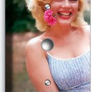MARILYN MONROE SMILING FLOWER LIGHT DIMMER CABLE WALL PLATE COVER ART DECORATION