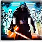 STAR WARS KYLO REN FIRST ORDER STORMTROOPERS DOUBLE LIGHT SWITCH WALL PLATE ART