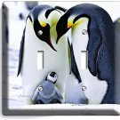 KING PENGUINS COUPLE CUTE BABY DOUBLE LIGHT SWITCH WALL PLATE COVER ROOM DECOR