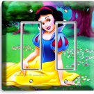 SNOW WHITE PRINCESS DOUBLE GFCI LIGHT SWITCH WALL PLATE GIRLS BEDROOM PLAY ROOM
