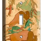 NATIVE AMERICAN INDIAN TIPI BUFFALO SINGLE LIGHT SWITCH WALLPLATE COVER ROOM ART