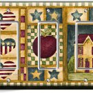 RUSTIC OLD AMERICANA COUNTRY HOUSE TRIPLE GFCI LIGHT SWITCH WALL PLATE ART COVER
